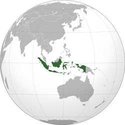 image of globe with Indonesia highlighted